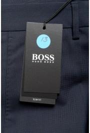 "Hugo Boss Men's ""Ben2"" Slim Fit Blue 100% Wool Dress Pants: Picture 4"