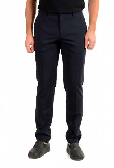 "Hugo Boss Men's ""Ben2"" Slim Fit Blue 100% Wool Dress Pants"