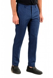 Hugo Boss Men's Genesis5 Slim Fit Plaid Blue 100% Wool Dress Pants: Picture 2