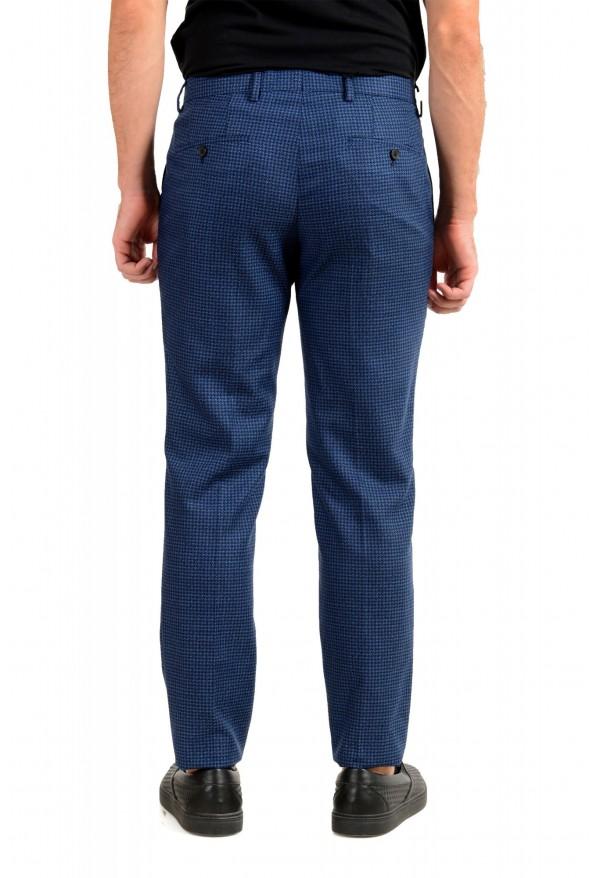 Hugo Boss Men's Genesis5 Slim Fit Plaid Blue 100% Wool Dress Pants: Picture 3