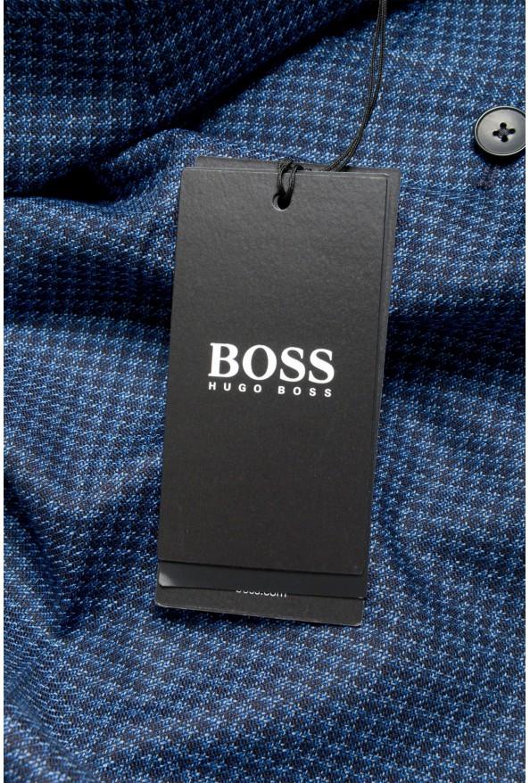 Hugo Boss Men's Genesis5 Slim Fit Plaid Blue 100% Wool Dress Pants: Picture 4