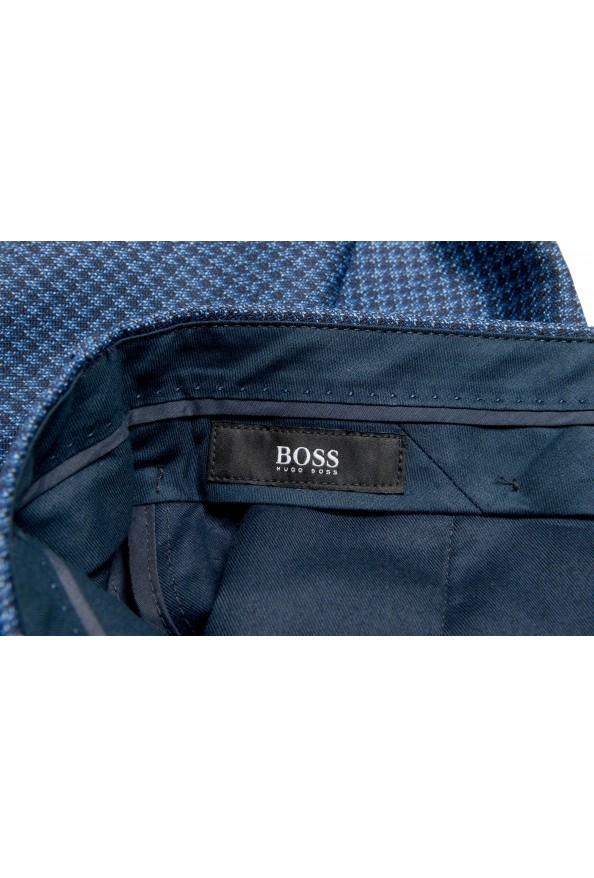 Hugo Boss Men's Genesis5 Slim Fit Plaid Blue 100% Wool Dress Pants: Picture 5