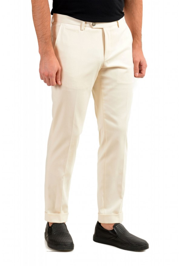 """Hugo Boss Men's """"T-Bryce"""" Tailored Off Whit Flat Front Casual Pants: Picture 2"""