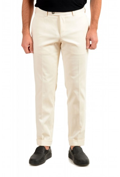 """Hugo Boss Men's """"T-Bryce"""" Tailored Off Whit Flat Front Casual Pants"""