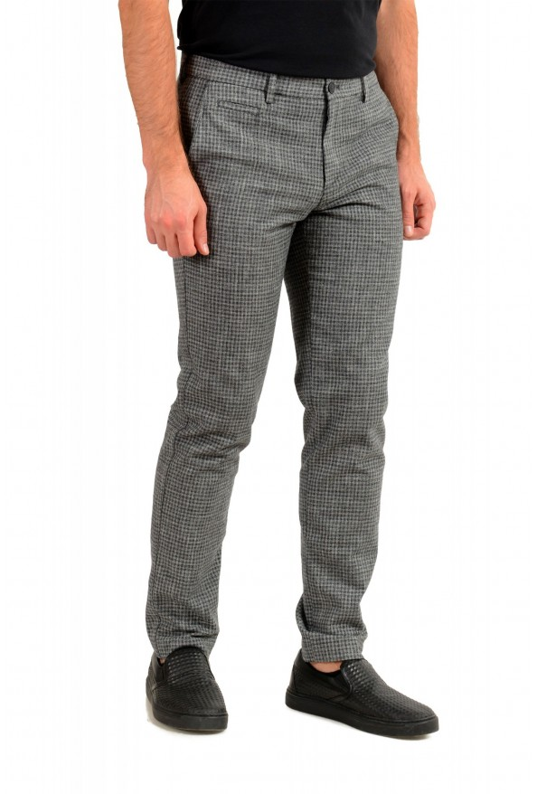 """Hugo Boss Men's """"Broad-W"""" Gray Plaid Wool Flat Front Casual Pants: Picture 2"""