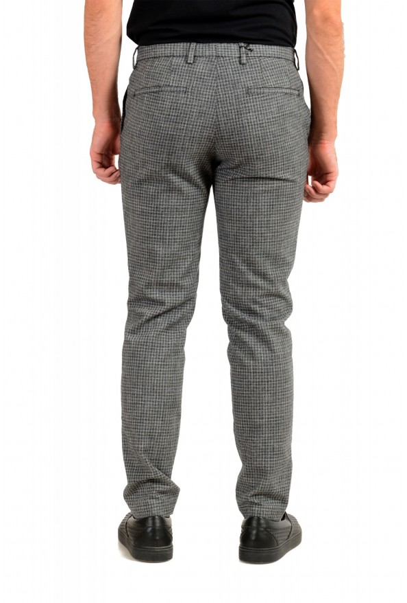 """Hugo Boss Men's """"Broad-W"""" Gray Plaid Wool Flat Front Casual Pants: Picture 3"""