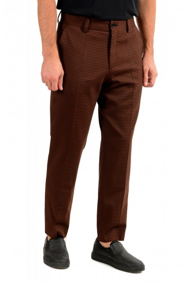 """Hugo Boss Men's """"Perin3"""" Fashion Fit Plaid Wool Flat Front Pants: Picture 2"""