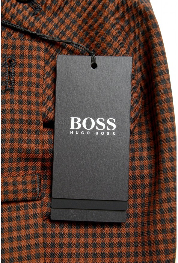 """Hugo Boss Men's """"Perin3"""" Fashion Fit Plaid Wool Flat Front Pants: Picture 4"""