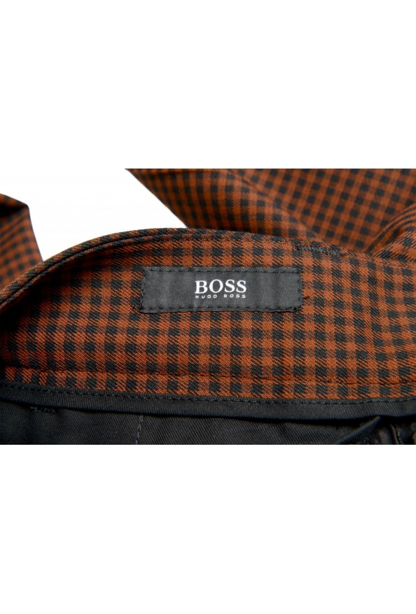 """Hugo Boss Men's """"Perin3"""" Fashion Fit Plaid Wool Flat Front Pants: Picture 5"""