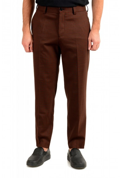 "Hugo Boss Men's ""Perin3"" Fashion Fit Plaid Wool Flat Front Pants"