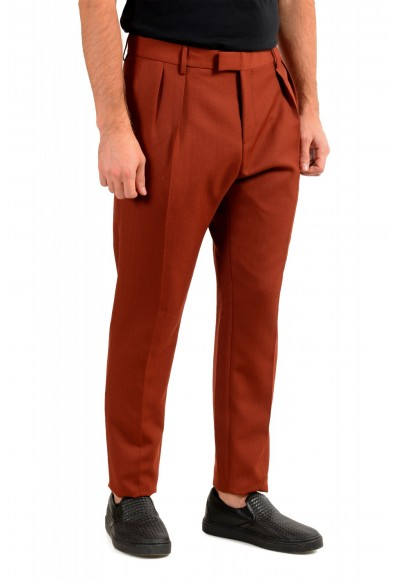 """Hugo Boss Men's """"Frencis"""" Brown Wool Pleated Front Pants: Picture 2"""