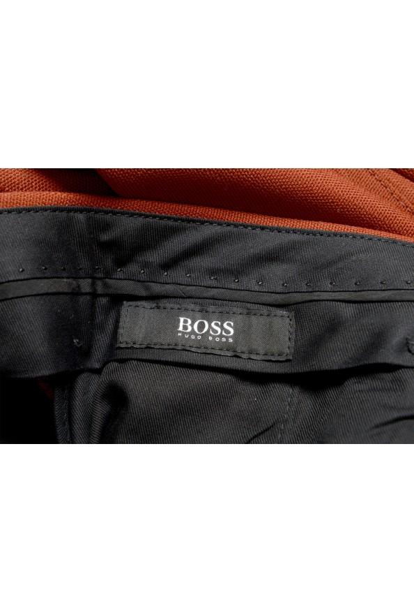 """Hugo Boss Men's """"Frencis"""" Brown Wool Pleated Front Pants: Picture 5"""