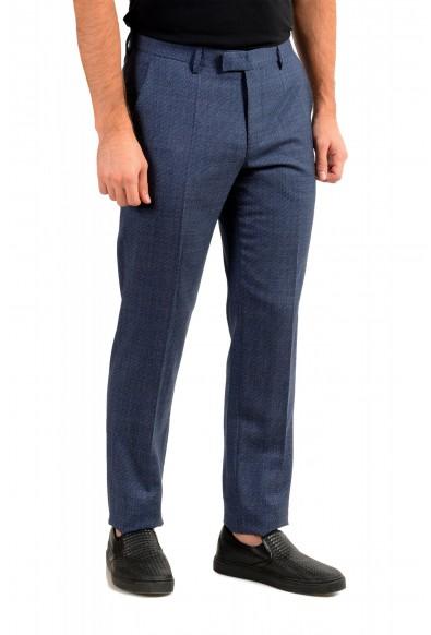"Hugo Boss Men's ""Lenon2"" Blue 100% Wool Flat Front Dress Pants: Picture 2"