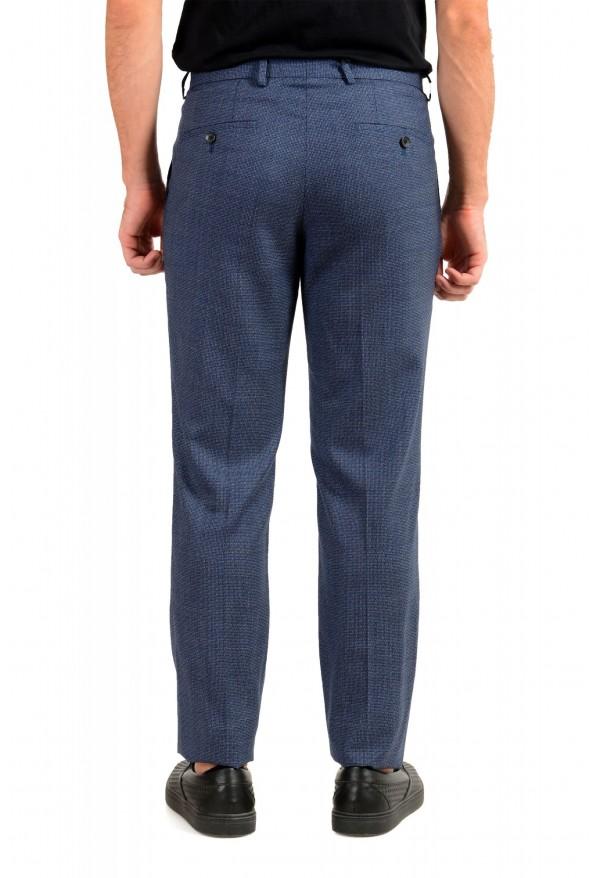 "Hugo Boss Men's ""Lenon2"" Blue 100% Wool Flat Front Dress Pants: Picture 3"