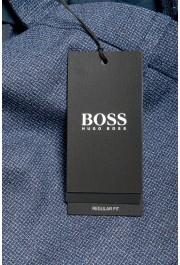 "Hugo Boss Men's ""Lenon2"" Blue 100% Wool Flat Front Dress Pants: Picture 4"