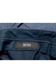 "Hugo Boss Men's ""Lenon2"" Blue 100% Wool Flat Front Dress Pants: Picture 5"