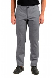 "Hugo Boss Men's ""Stanino17-W"" Blue Flat Front Casual Pants"