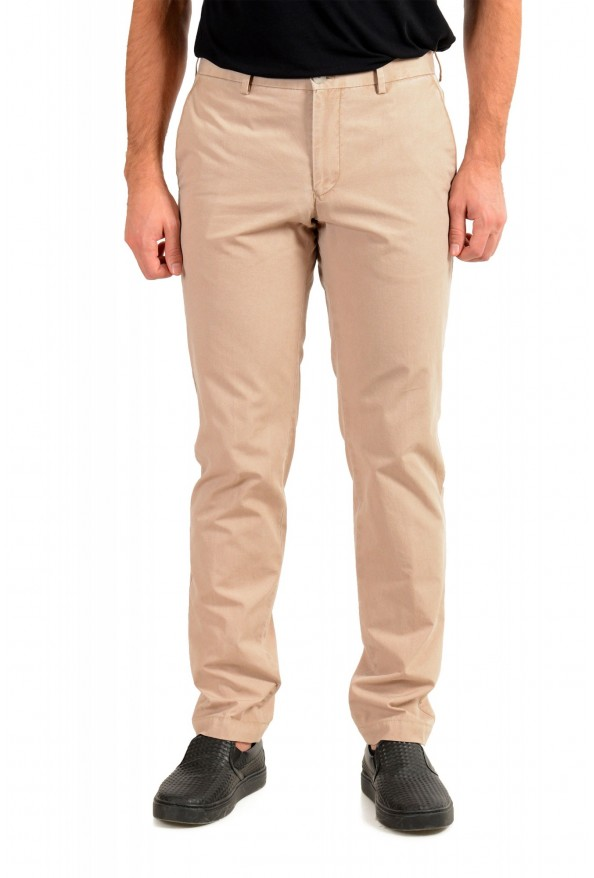 "Hugo Boss Men's ""Stanino17-W"" Beige Flat Front Casual Pants"