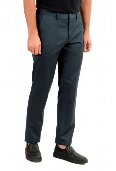 """Hugo Boss Men's """"Gido"""" Forest Green 100% Wool Flat Front Pants: Picture 2"""