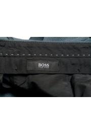 """Hugo Boss Men's """"Gido"""" Forest Green 100% Wool Flat Front Pants: Picture 5"""