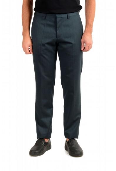 """Hugo Boss Men's """"Gido"""" Forest Green 100% Wool Flat Front Pants"""