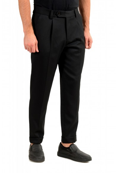 """Hugo Boss Men's """"Porte"""" Black Wool Pleated Front Casual Pants: Picture 2"""