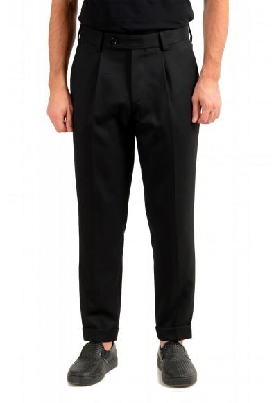 "Hugo Boss Men's ""Porte"" Black Wool Pleated Front Casual Pants"