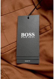 """Hugo Boss Men's """"Broad1-W"""" Brown Flat Front Casual Pants: Picture 4"""