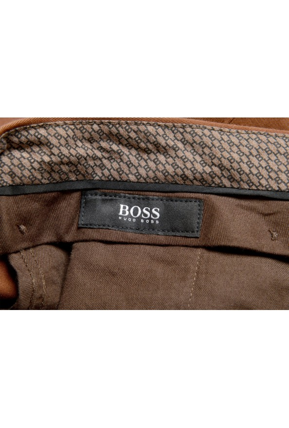 """Hugo Boss Men's """"Broad1-W"""" Brown Flat Front Casual Pants: Picture 5"""