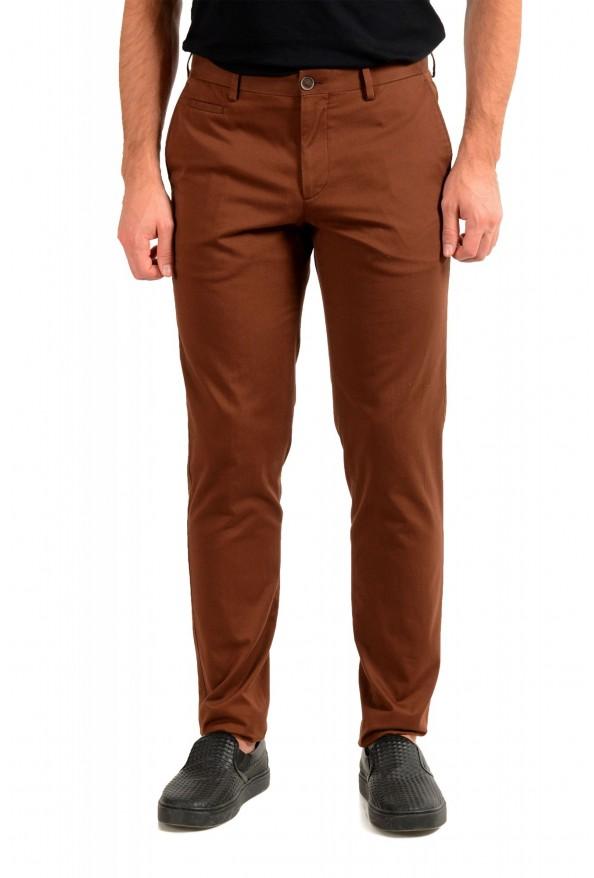 """Hugo Boss Men's """"Broad1-W"""" Brown Flat Front Casual Pants"""
