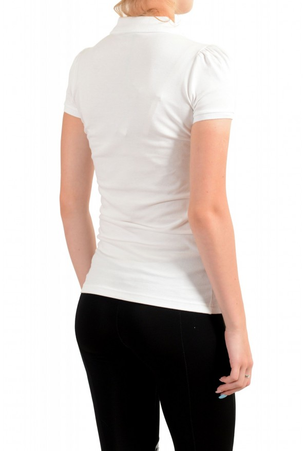 Burberry Women's White Short Sleeves Polo Shirt: Picture 3
