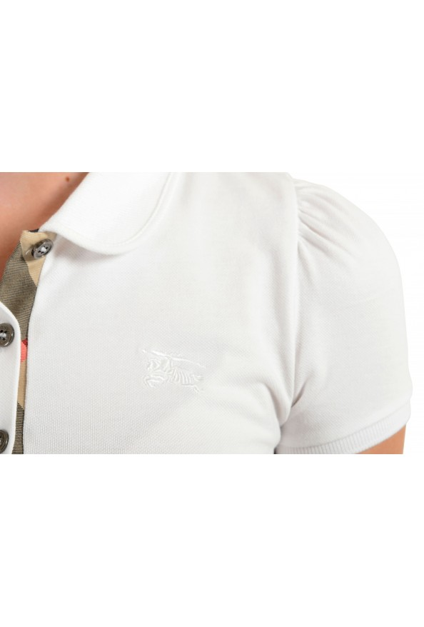 Burberry Women's White Short Sleeves Polo Shirt: Picture 4