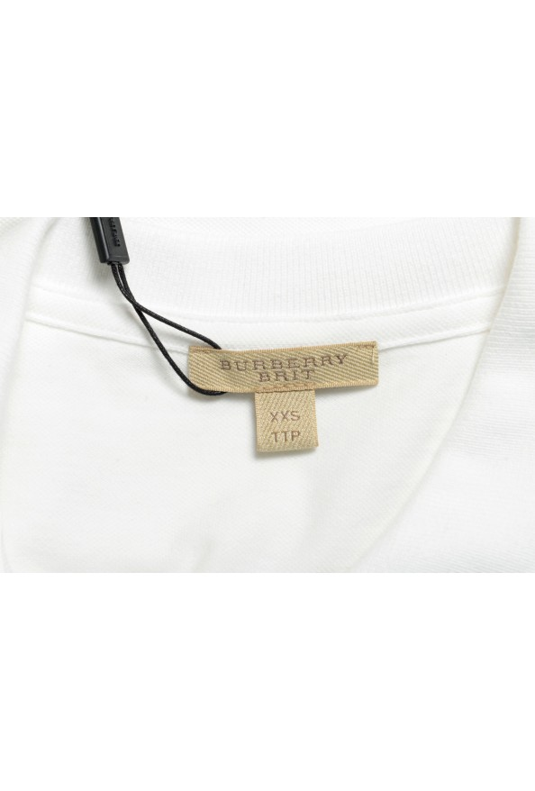 Burberry Women's White Short Sleeves Polo Shirt: Picture 5
