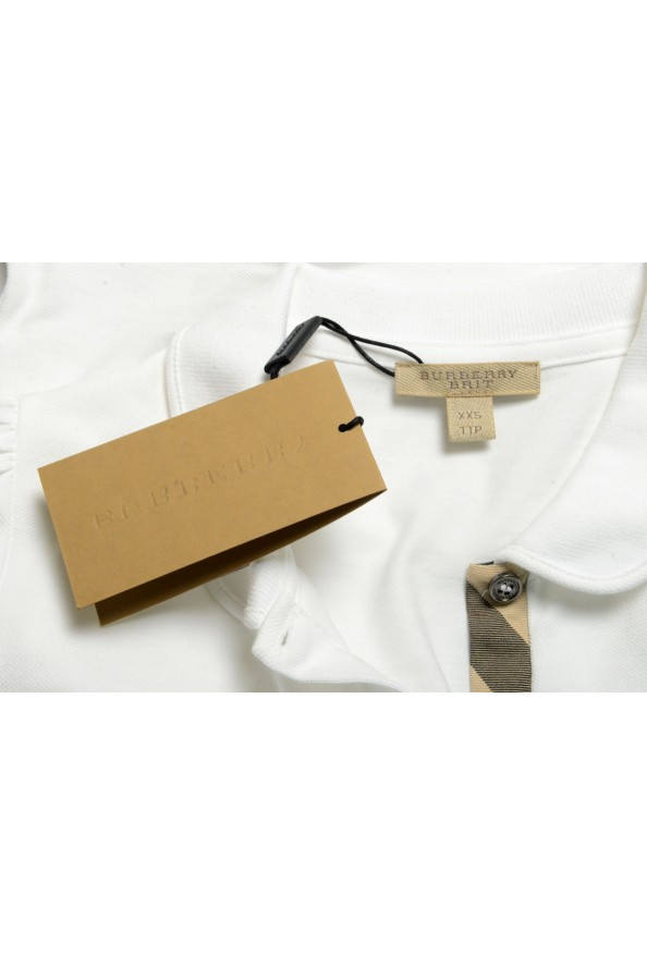 Burberry Women's White Short Sleeves Polo Shirt: Picture 6