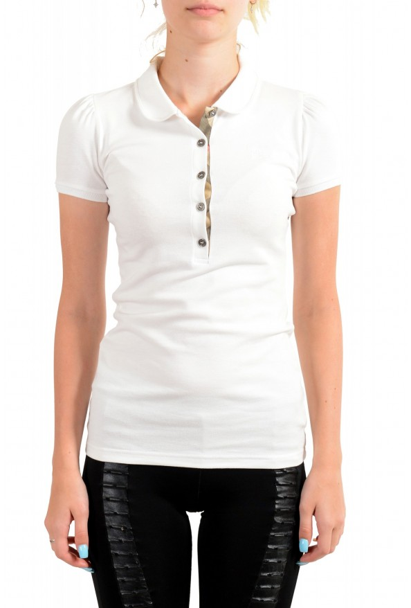 Burberry Women's White Short Sleeves Polo Shirt