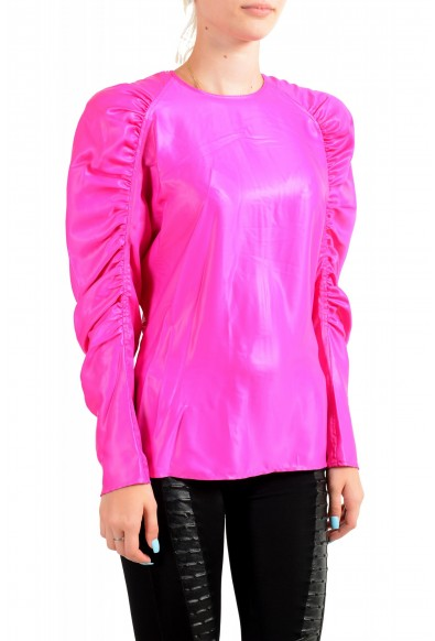 Versace Women's Fuchsia Pink Blouse Top: Picture 2