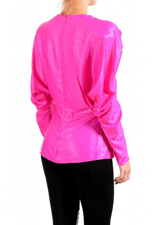 Versace Women's Fuchsia Pink Blouse Top: Picture 3