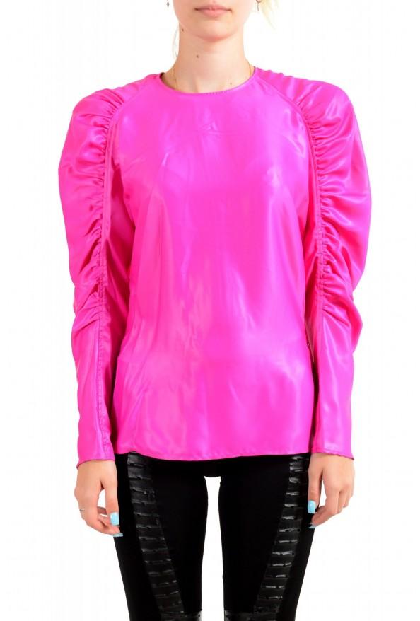Versace Women's Fuchsia Pink Blouse Top