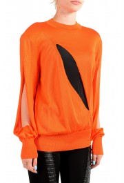 Versace Women's Bright Orange Silk Long Sleeve Sweater: Picture 2