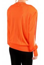 Versace Women's Bright Orange Silk Long Sleeve Sweater: Picture 3