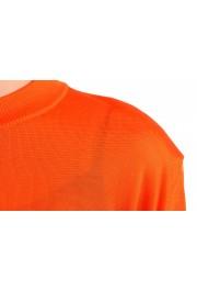 Versace Women's Bright Orange Silk Long Sleeve Sweater: Picture 4