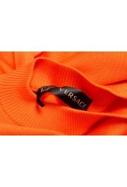 Versace Women's Bright Orange Silk Long Sleeve Sweater: Picture 5