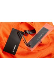 Versace Women's Bright Orange Silk Long Sleeve Sweater: Picture 6