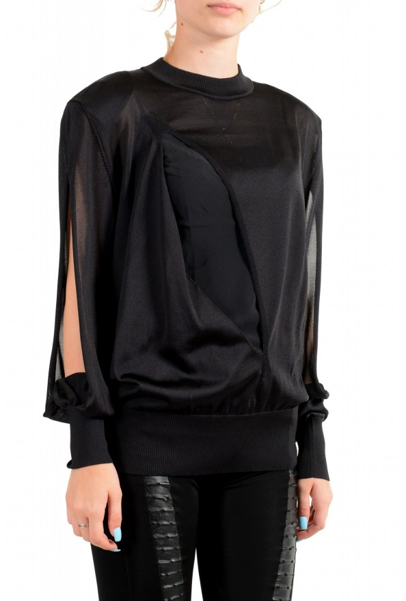 Versace Women's Black Silk Long Sleeve Sweater: Picture 2