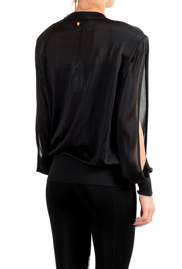 Versace Women's Black Silk Long Sleeve Sweater: Picture 3