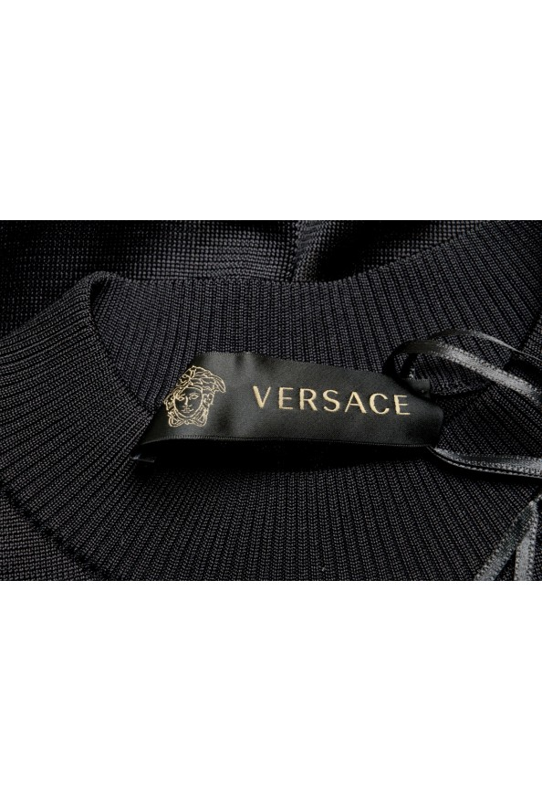 Versace Women's Black Silk Long Sleeve Sweater: Picture 5