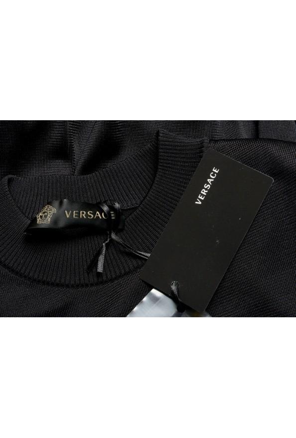 Versace Women's Black Silk Long Sleeve Sweater: Picture 6