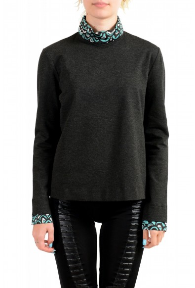 Just Cavalli Women's Gray Long Sleeve Blouse Top