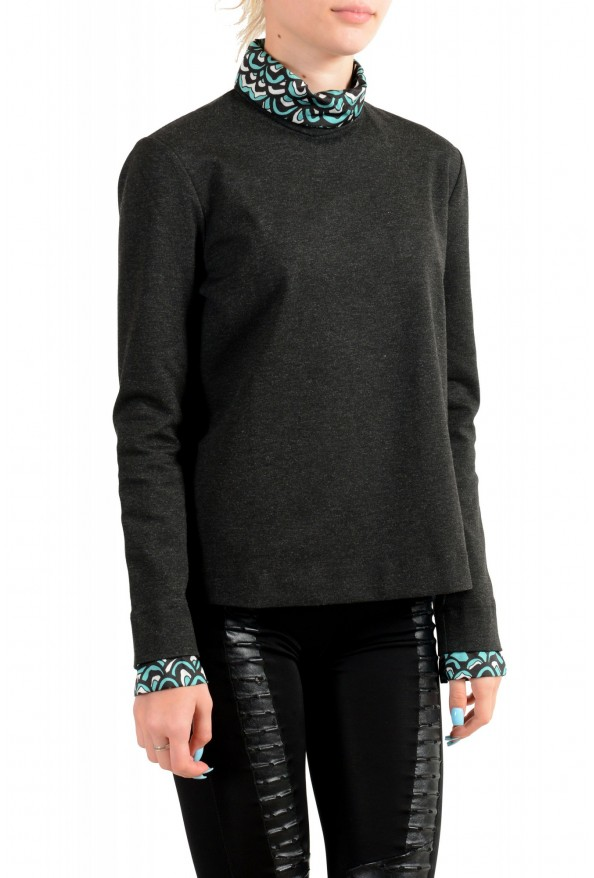 Just Cavalli Women's Gray Long Sleeve Blouse Top: Picture 2