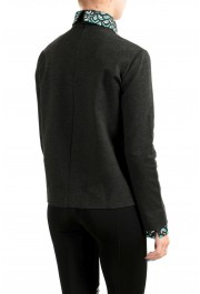 Just Cavalli Women's Gray Long Sleeve Blouse Top: Picture 3